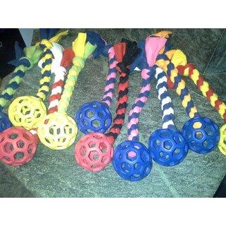 Fleece-Seil mit Gitterball