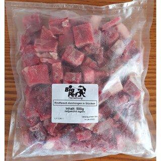 Rindfleisch durchzogen in Stücken lose gefroren 500 g - TK
