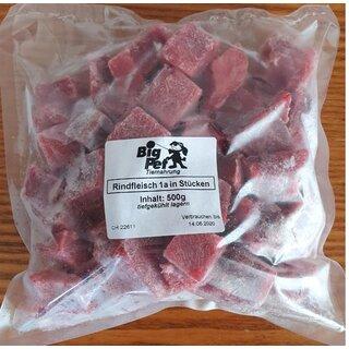 Rindfleisch 1a in Stücken lose gefroren 500 g - TK